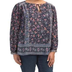 🆕 Lucky Brand boho floral top blouse